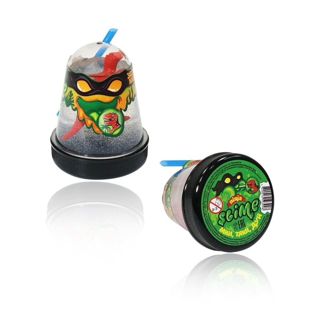 """Slime """"Ninja"""", Затерянный мир с фигуркой Динозавра 130 гр."""