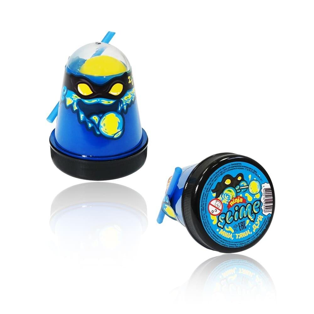 "Slime ""Ninja"", Смешивай цвета 2 в 1, Синий, Желтый 130 гр."