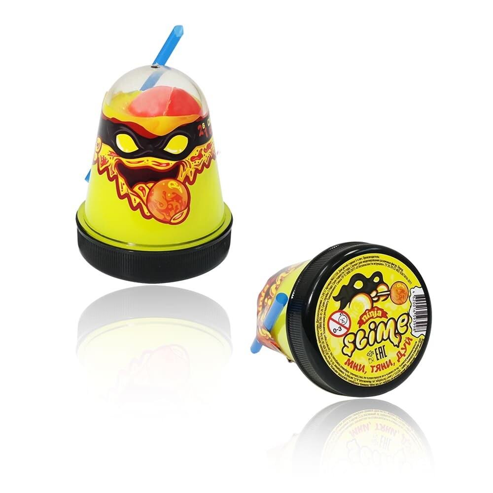 "Slime ""Ninja"", Смешивай цвета 2 в 1, Желтый, Красный 130 гр."