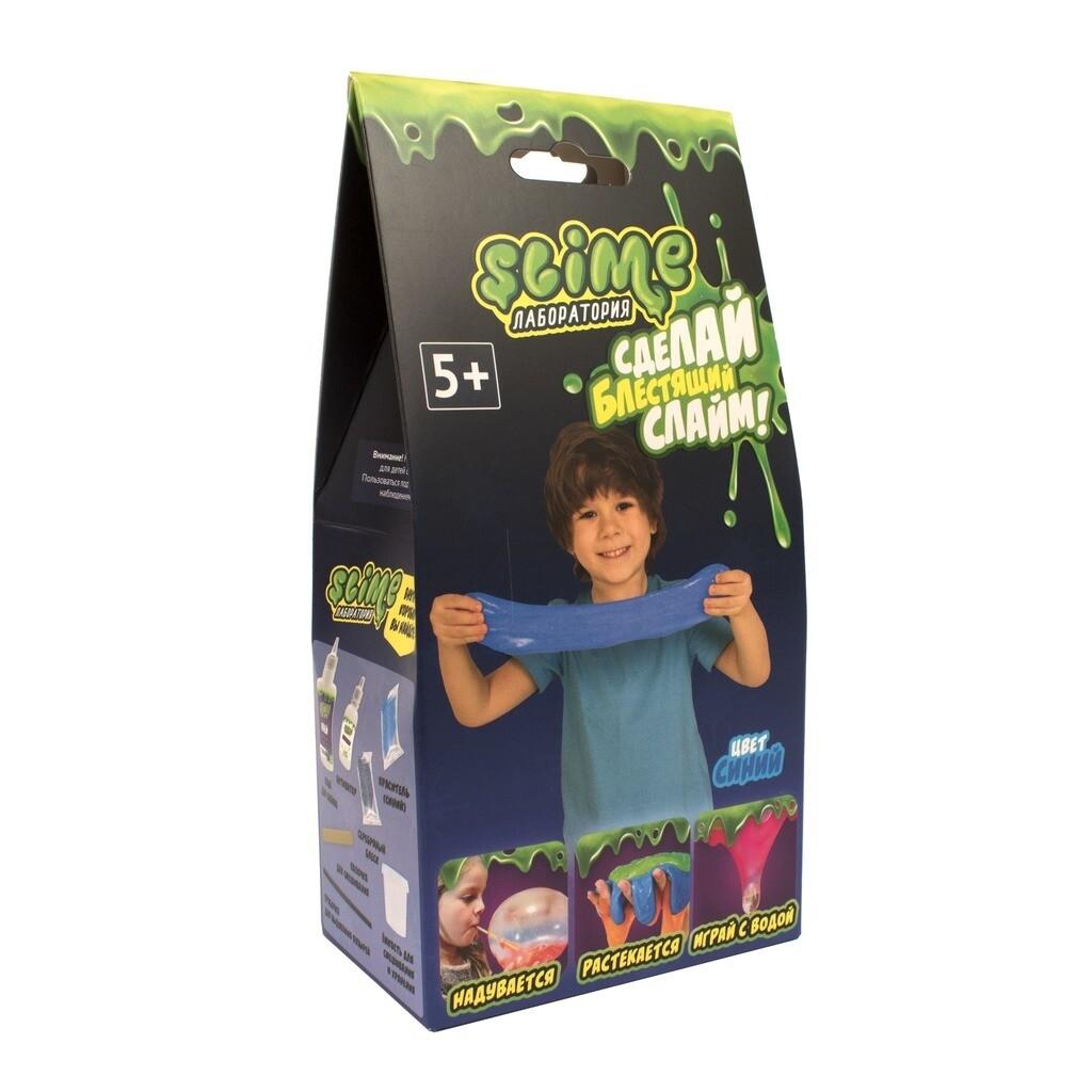 """Малый набор для мальчиков Slime """"Лаборатория"""", синий, 100 гр."""