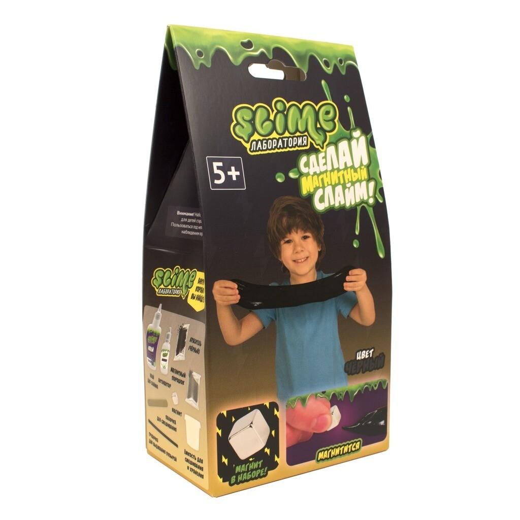 """Малый набор для мальчиков Slime """"Лаборатория"""", черный магнитный, 100 гр."""
