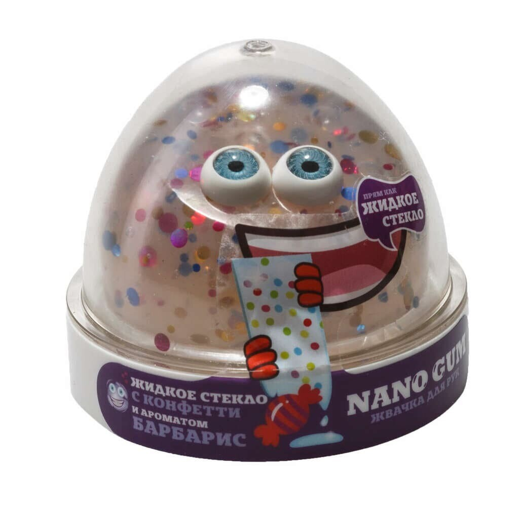 Nano Gum, Жидкое стекло с конфетти и ароматом Барбариса 50 гр