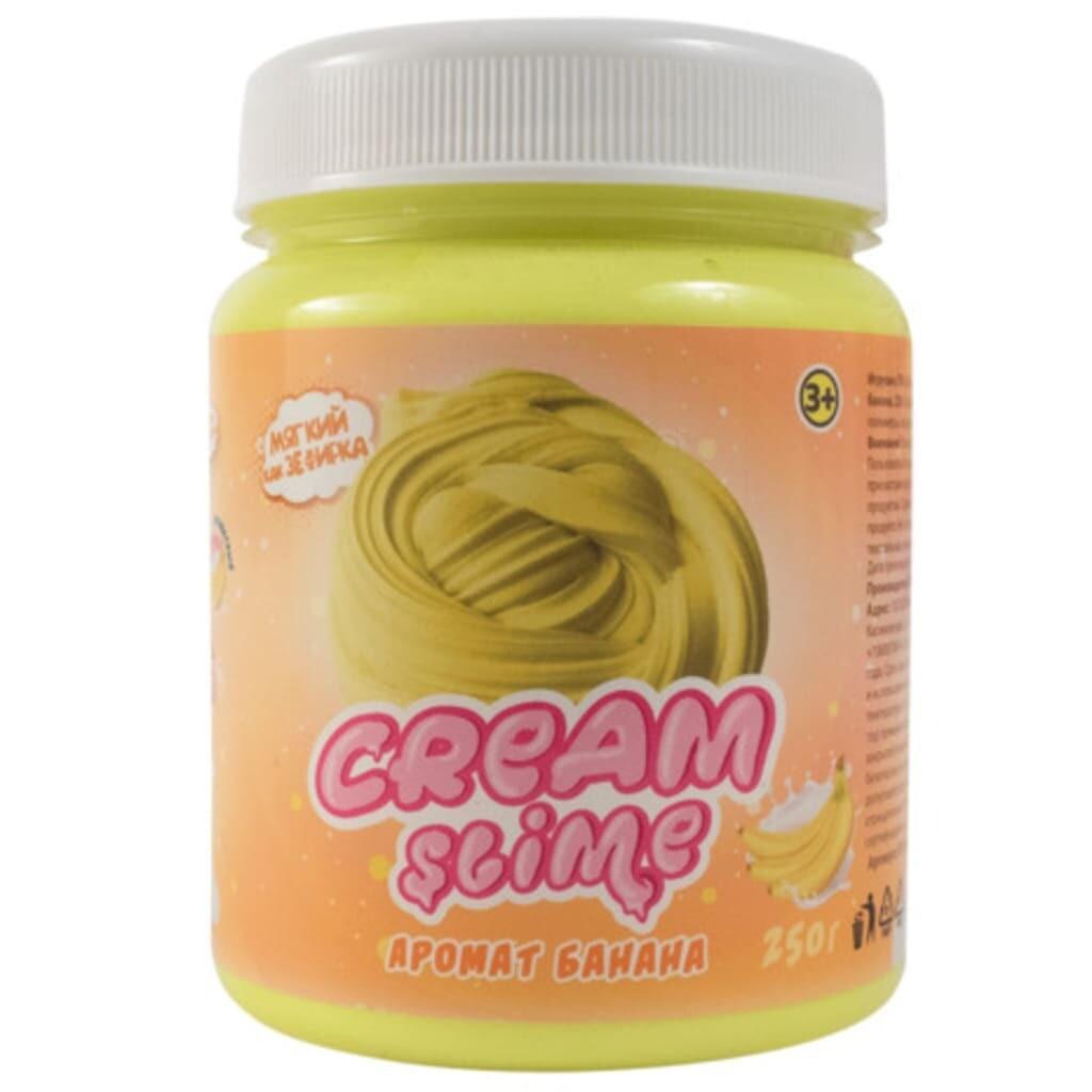 Cream-Slime (Флаффи) с ароматом банана, 250 г