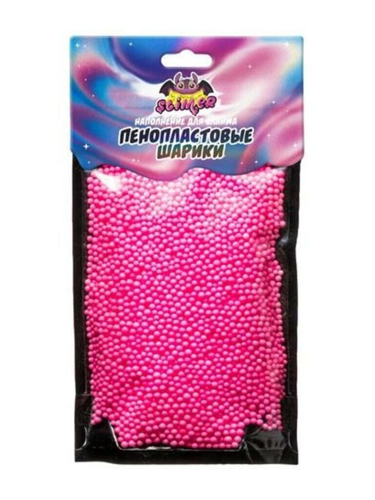 """Наполнение для слайма """"Пенопластовые шарики""""  2 мм Розовый. ТМ """"Slimer"""""""