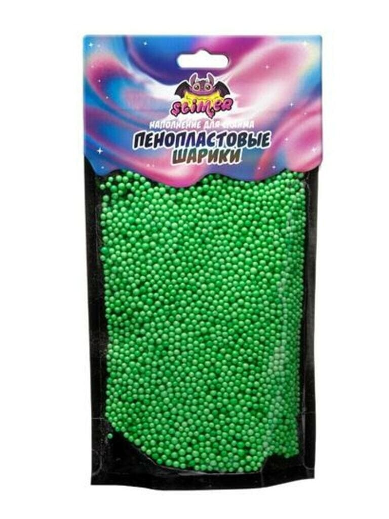 """Наполнение для слайма """"Пенопластовые шарики"""" 2 мм Светлозеленый ТМ """"Slimer"""""""