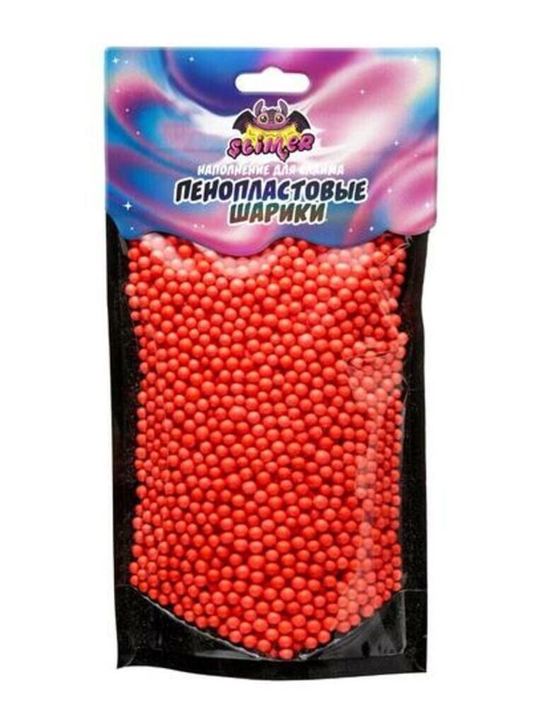 """Наполнение для слайма """"Пенопластовые шарики"""" 4 мм Красный ТМ """"Slimer"""""""