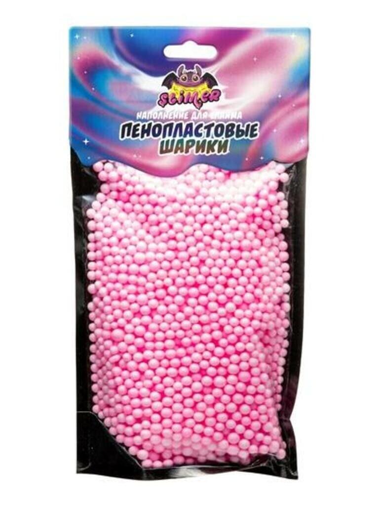 """Наполнение для слайма """"Пенопластовые шарики"""" 4 мм Розовый, пастель ТМ """"Slimer"""""""