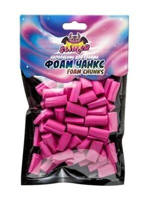 Наполнение для слайма ФОАМ ЧАНКС  (Foam Chunkc) Ярко-розовый  ТМ