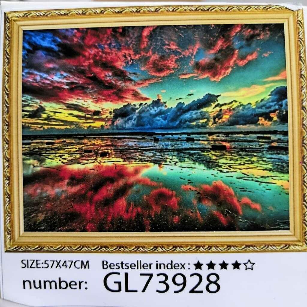 Алмазная мозаика без подрамника 50*40 см GL73928