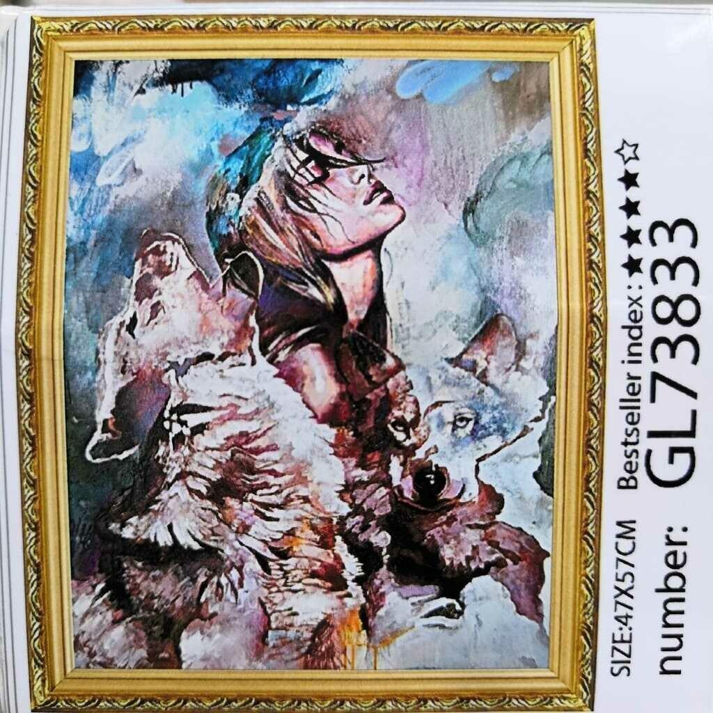 Алмазная мозаика без подрамника 40*50 см GL73883