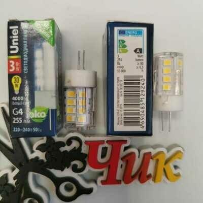 Лампочка G4 (кукуруза) UNIEL светодиодная 3W 220В