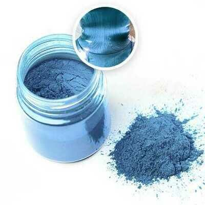 Металлический пигмент ГОЛУБОЙ для эпоксидной смолы (10 г)