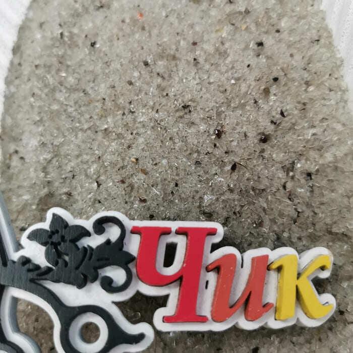 Стеклянная крошка ЧЕРНАЯ (дымка) 0,5-2 мм (песок) (100 г)