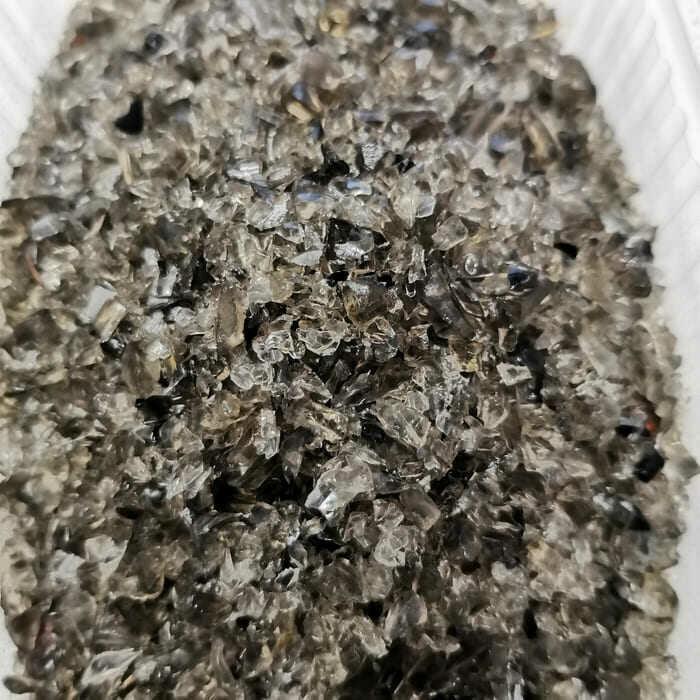 Стеклянная крошка ЧЕРНАЯ (дымка) 3-5 мм (100 г)
