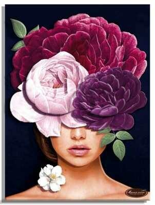 """Папертоль РТ150296  """"Девушки цветы. Загадка"""" 30*40см."""