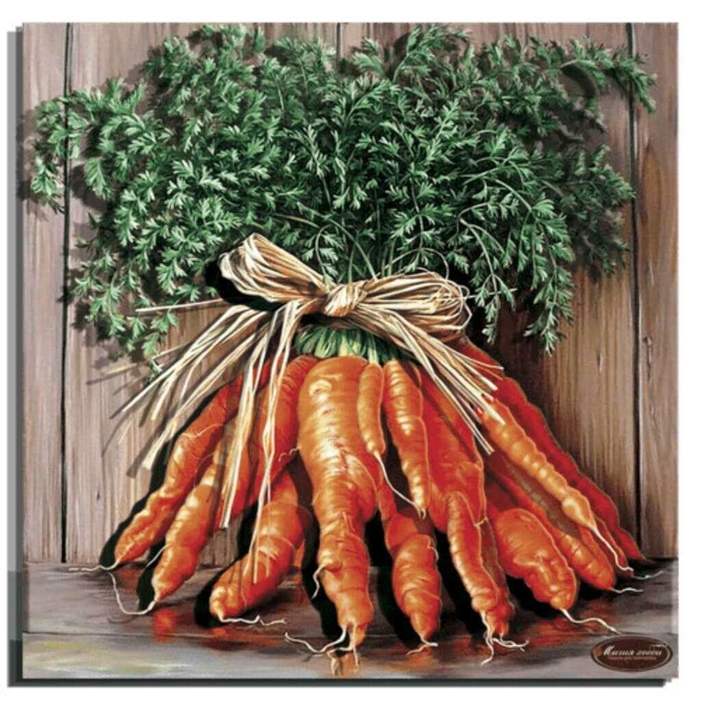 """Папертоль РТ150300 """"Букет моркови"""" 29*29см."""