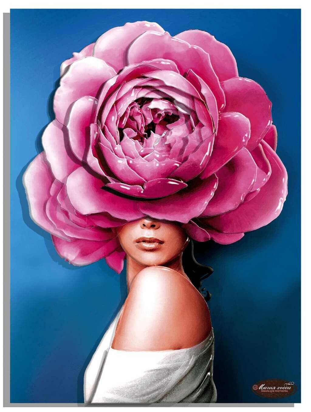 """Папертоль РТ150295  """"Девушки цветы. Стиль"""" 30*40см."""