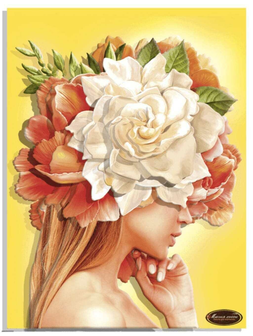 """Папертоль РТ150297 """"Девушки цветы. Солнце"""" 30*40см."""