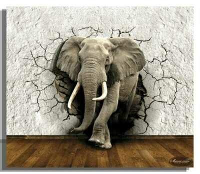 """Папертоль РТ150307 """"Слон"""" 29*33см."""