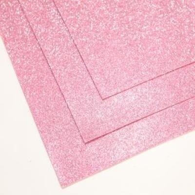 Фоамиран глиттерный 60х70 см толщина 1,5 мм (Светло-розовый)