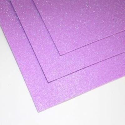 Фоамиран глиттерный 60х70 см толщина 1,5 мм МЕРЦАЮЩИЙ   (Розово-сиреневый)