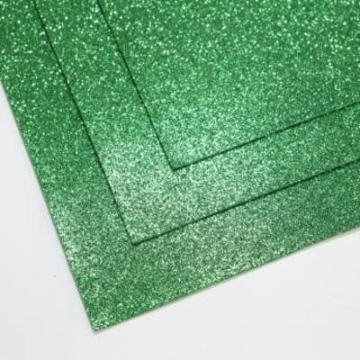 Фоамиран глиттерный 60х70 см толщина 1,5 мм (Темно-зеленый)