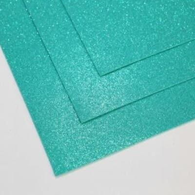 Фоамиран глиттерный 60х70 см толщина 1,5 мм МЕРЦАЮЩИЙ   (Малахит)