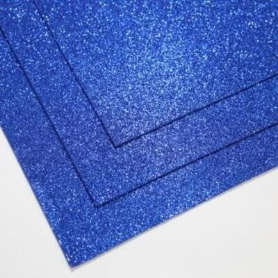 Фоамиран глиттерный 60х70 см толщина 1,5 мм (Лазурно-синий)