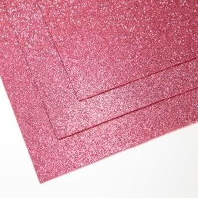 Фоамиран глиттерный 60х70 см толщина 1,5 мм (Холодный розовый)