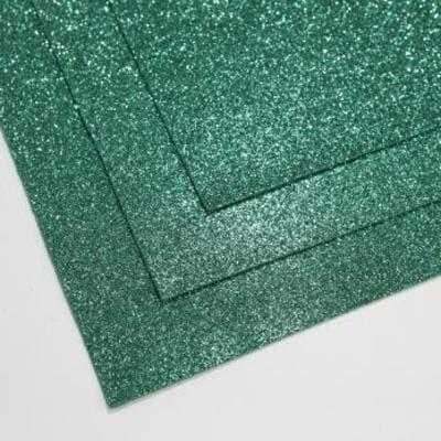 Фоамиран глиттерный 60х70 см толщина 1,5 мм (Нефрит)