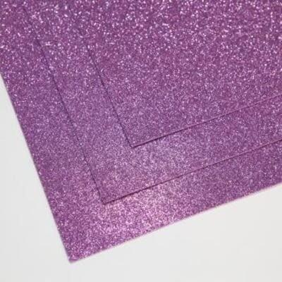 Фоамиран глиттерный 60х70 см толщина 1,5 мм (Светло-сиреневый)