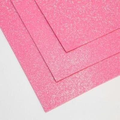 Фоамиран глиттерный 60х70 см толщина 1,5 мм МЕРЦАЮЩИЙ   (Розовый зефир)