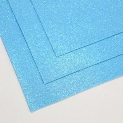 Фоамиран глиттерный 60х70 см толщина 1,5 мм МЕРЦАЮЩИЙ   (Голубая лазурь)