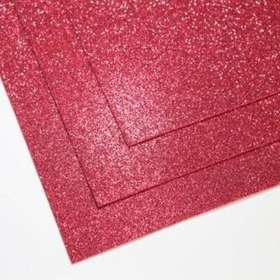 Фоамиран глиттерный 60х70 см толщина 1,5 мм (Малиново-красный)