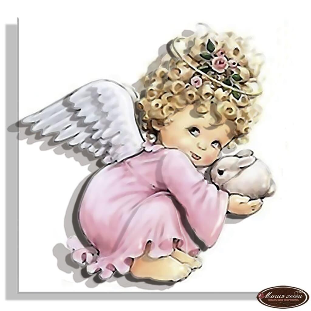 """Папертоль РТ130018 """"Ангел в розовом"""" 11*11см."""