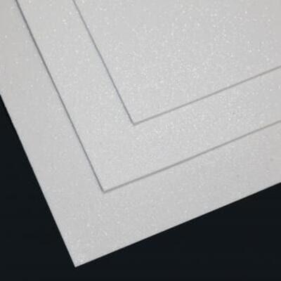 Фоамиран глиттерный 60х70 см толщина 1,5 мм (Белый)