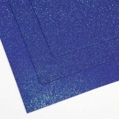 Фоамиран глиттерный 60х70 см толщина 1,5 мм МЕРЦАЮЩИЙ   (Ночное небо)