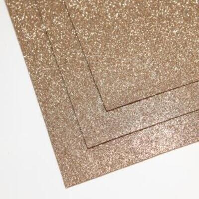 Фоамиран глиттерный 60х70 см толщина 1,5 мм (Песочное золото)