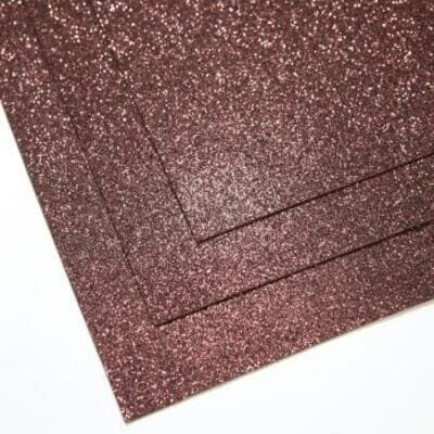 Фоамиран глиттерный 60х70 см толщина 1,5 мм (Шоколад)