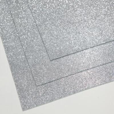 Фоамиран глиттерный 60х70 см толщина 1,5 мм (Светлое серебро)