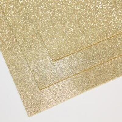 Фоамиран глиттерный 60х70 см толщина 1,5 мм (Белое золото)