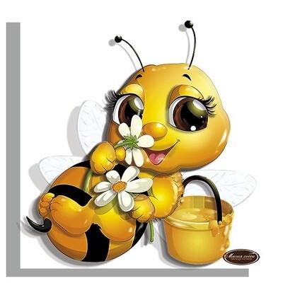 """Папертоль РТ150323  """"Пчелка с цветами""""  12*12см."""