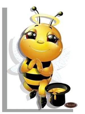 """Папертоль РТ150324 """"Пчелка любовь"""" 10*15см."""