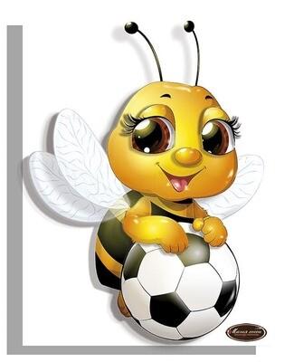 """Папертоль РТ150325 """"Пчелка с мячом""""  11*15см."""