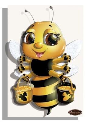 """Папертоль РТ150322  """"Пчелка с медом"""" 10*15см."""