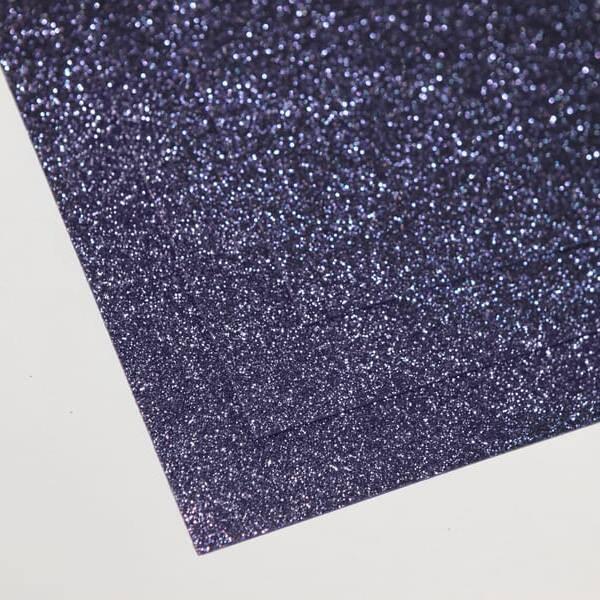 Фоамиран глиттерный 60х70 см толщина 1,5 мм (Спелая черника)