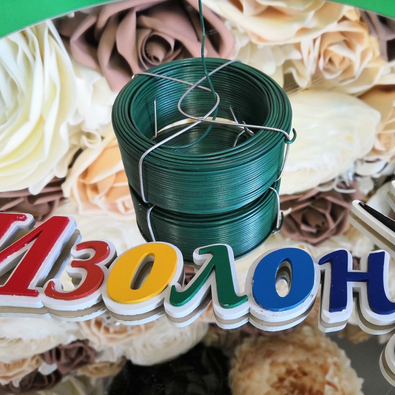 ПОДАРОК при заказе на 4500 рублей товаров - Проволока с ПВХ покрытием, зеленая 1,5мм, длина 50м