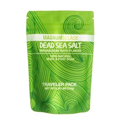Magnesium Bath Flakes 1/4 LB Traveler Pack