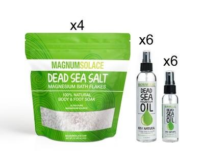 Best Seller Bundle: Magnesium Bath Flakes + Magnesium Oil