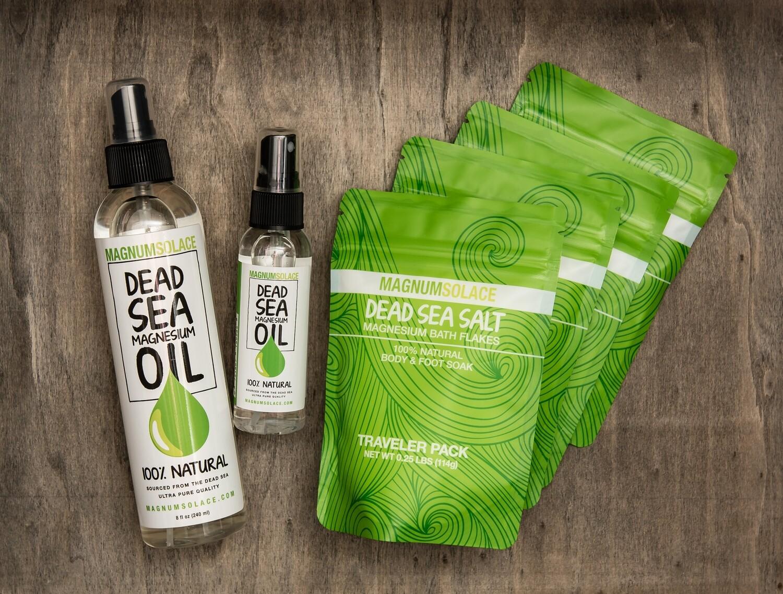 Magnesium Bath Starter Kit for Home-Spa + Travel